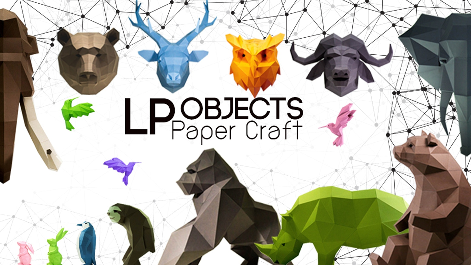 Diy papercraft art for your home by lpobjects by lpobjects you can decor at your space and decor you inspiration with our paper craft animals jeuxipadfo Image collections