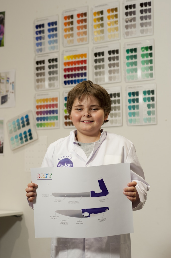 Marios 10 years old - the designer of Safy