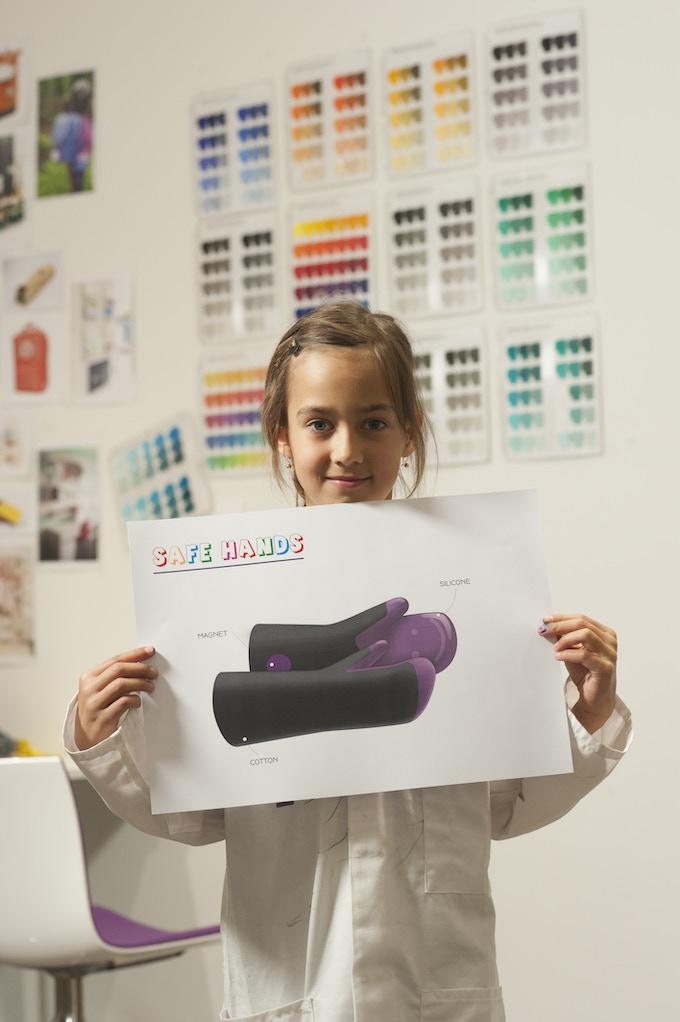 Allegra, 8 years old - The designer of Safe Hands