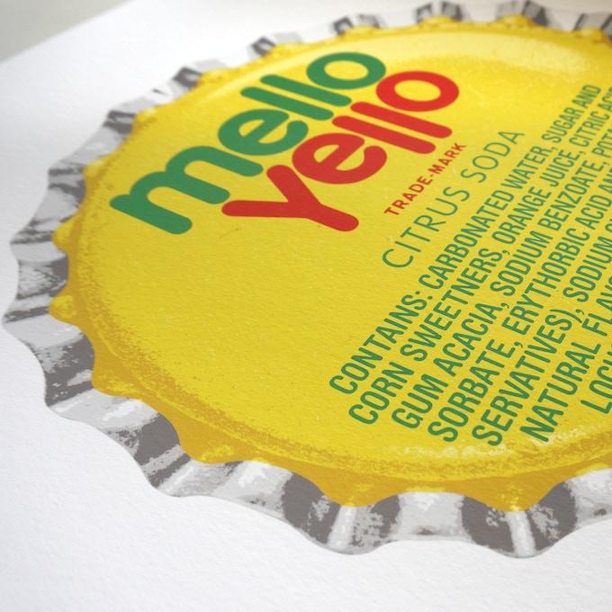 500mm x 500mm Mello Yello Artist Proof Detail