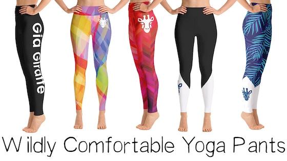 4430f981a979a Track Gia Giraffe - Yoga Pants That Help Save Giraffes (Canceled)'s ...