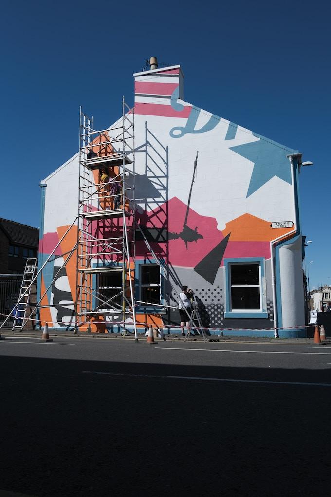 Large exterior mural
