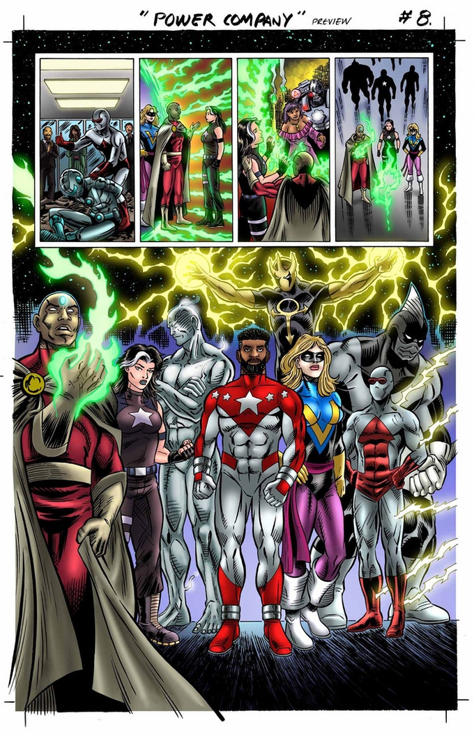 More art from The Power Company #1. Art by Luis Rivera.