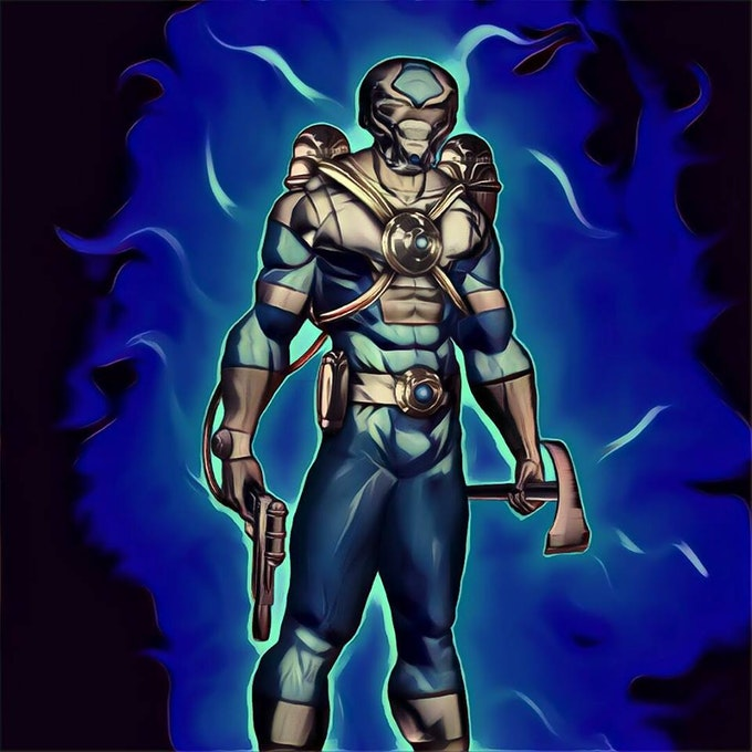 Dr Cold. Art by John Jones. As seen in Power Company #1. Created by Roy Johnson.