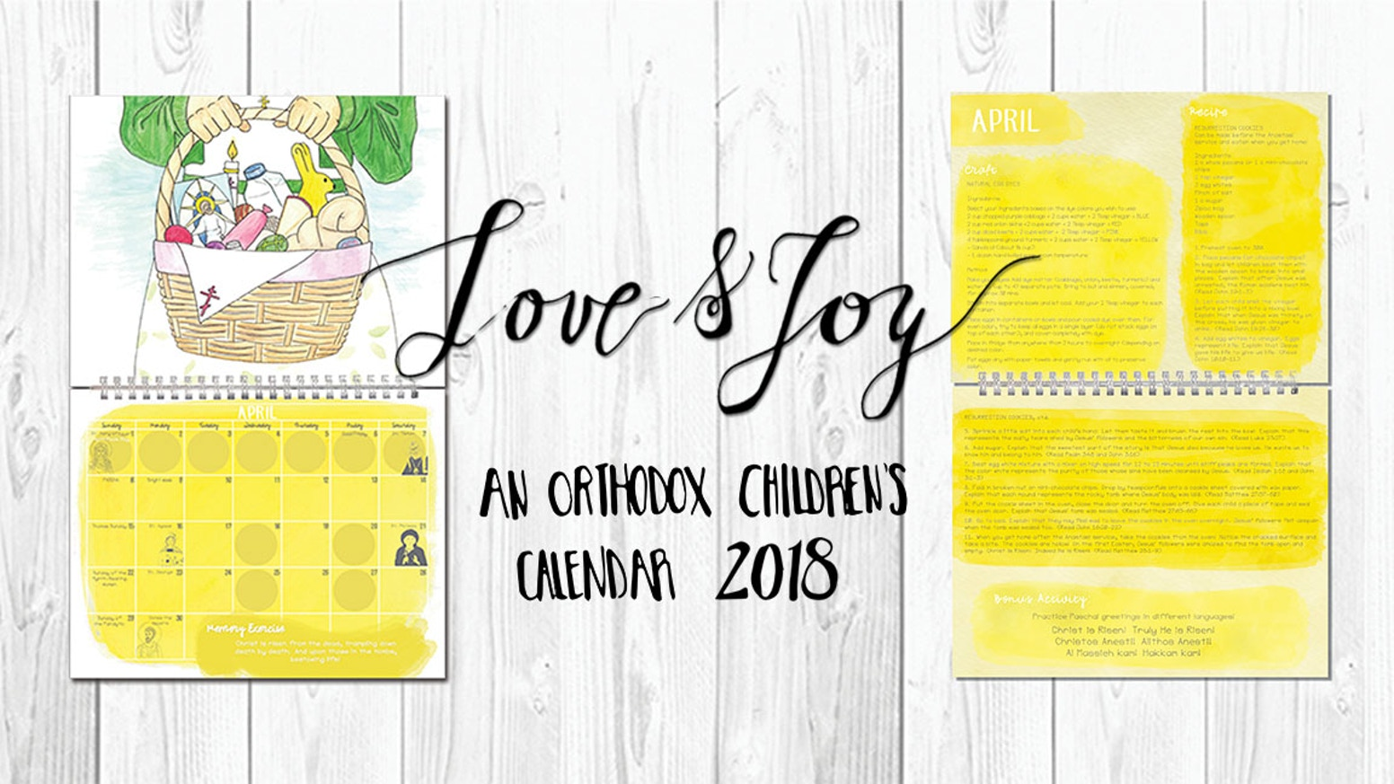 Love & Joy: An Orthodox Children\'s Calendar 2018 by Marian, Abigail ...