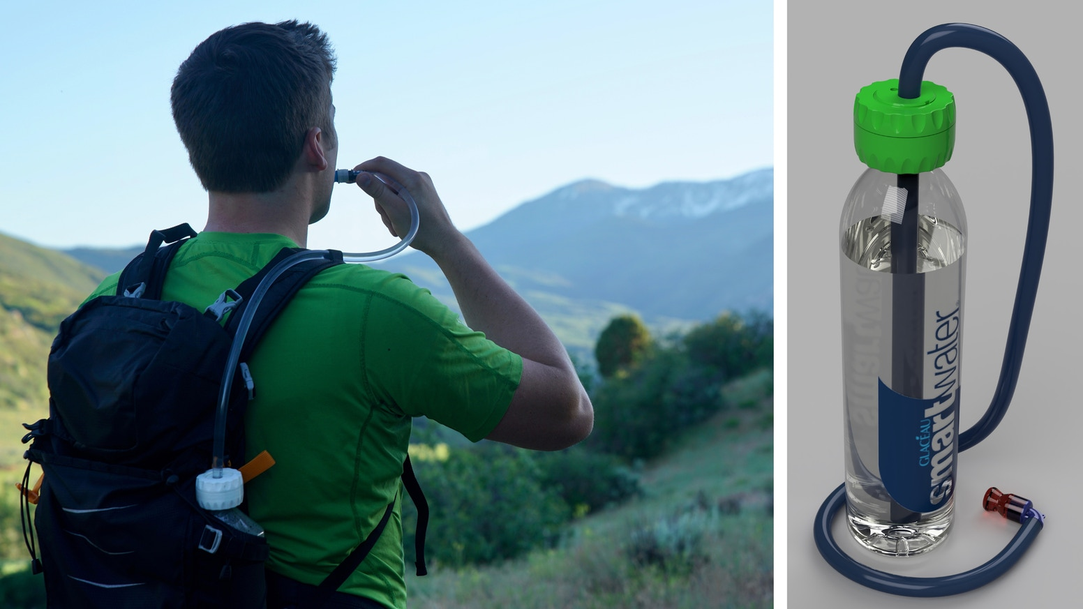 In one motion, it grips, seals and turns virtually any bottle into an instant hydration pack.