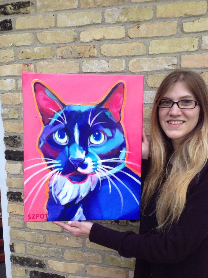 $375 Reward: Maggie Szpot Original 16 x20 Painting