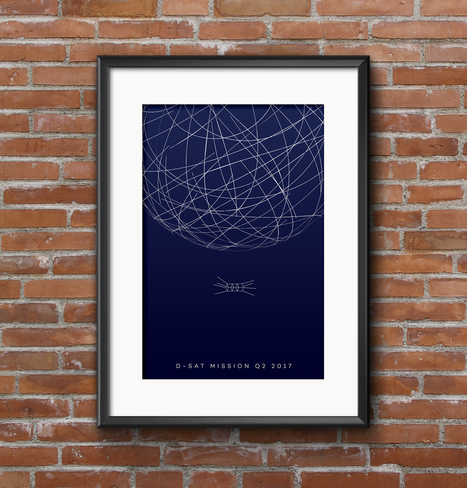Printed mission poster, available at the Space Decorator level
