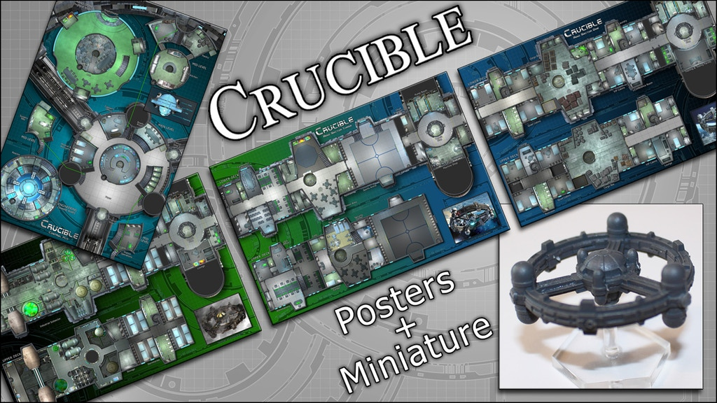 Crucible: Space Station Map Posters & Miniature project video thumbnail