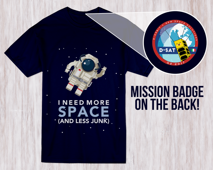 Mission t-shirt, available at the Space Fashionista level