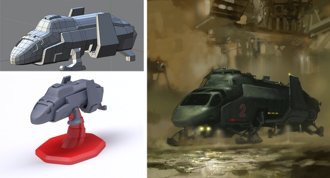 All the miniatures are meticulously designed by our 3D modeler to replicate the 2D Starship illustrations in the game created by our artist.