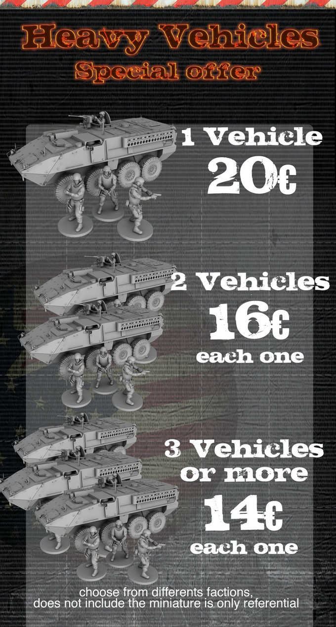 modern wargame 28 mm and 32mm vehicles