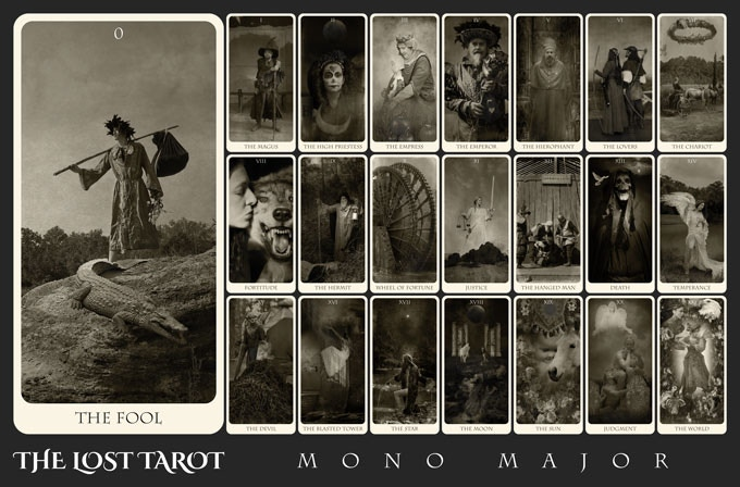 The mono version of the Major Arcana (some cards may vary from the colored versions presented in this Kickstarter)
