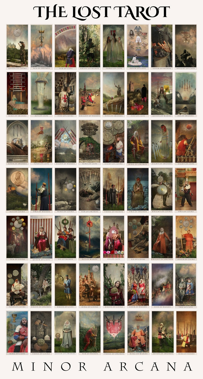 The colored version of The Lost Tarot Minor Arcana (some cards may be subject to change)
