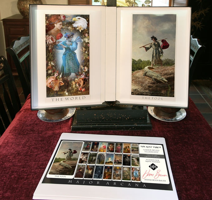 The Grand Edition Package, including a wide Lost Tarot Spread printed with a personal dedication