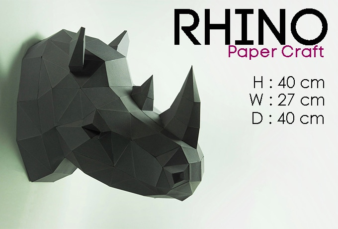 Diy papercraft art for your home by lpobjects by lpobjects kickstarter a collection of beautiful paper craft art for your homewe have many models for choose rhino head bear head deer head elephant headlion head owl head altavistaventures Image collections