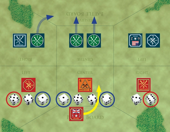 Battle Example on the included Battle Board