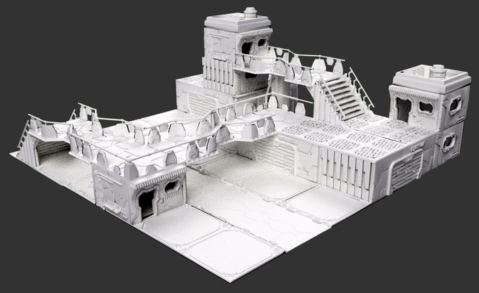 Possible layout built with the Trantor pledge components