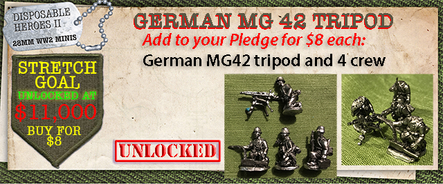 Stretch Goal $11,000 - German MG42 tripod and 4 crew