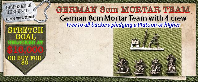 Stretch Goal $16,000 - German 8cm Mortar and 4 crew
