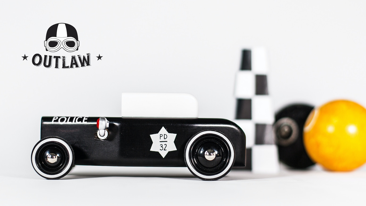 Wooden toy cars, inspired by the Art Deco Era and the roaring American 20's