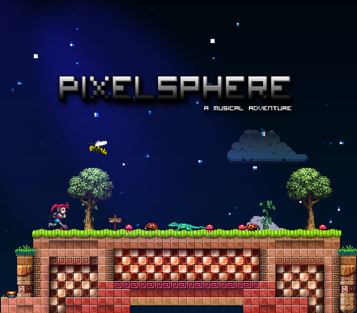 Pixelsphere is a 2d-sidescroller with an interactive musical soundtrack. Get ready for classic platformer action, exploration, physics & music puzzles, and of course, pixel art!