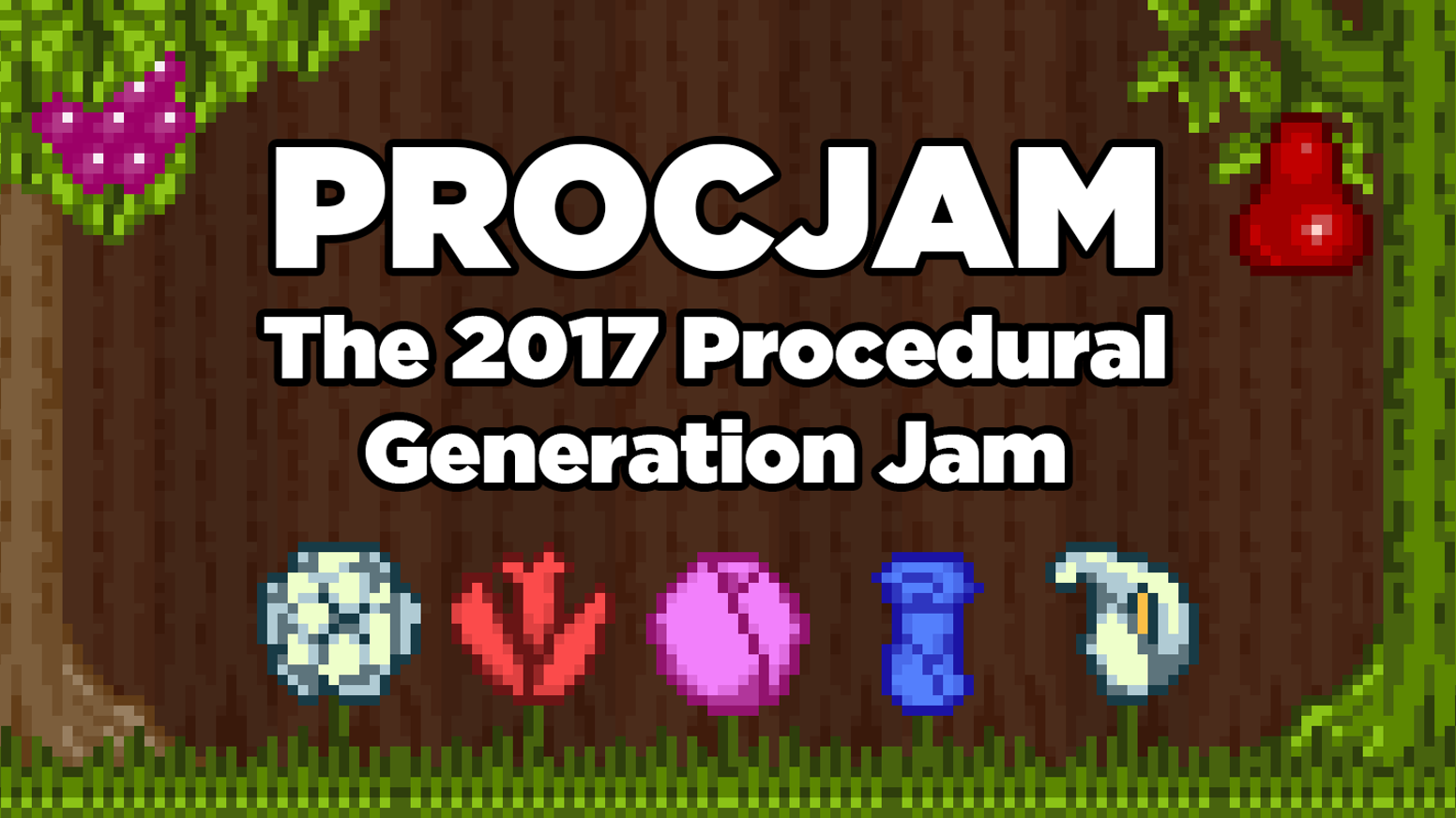 Help us fund art, tutorials, zines and more to support and grow PROCJAM - a community of procedural generation creators!