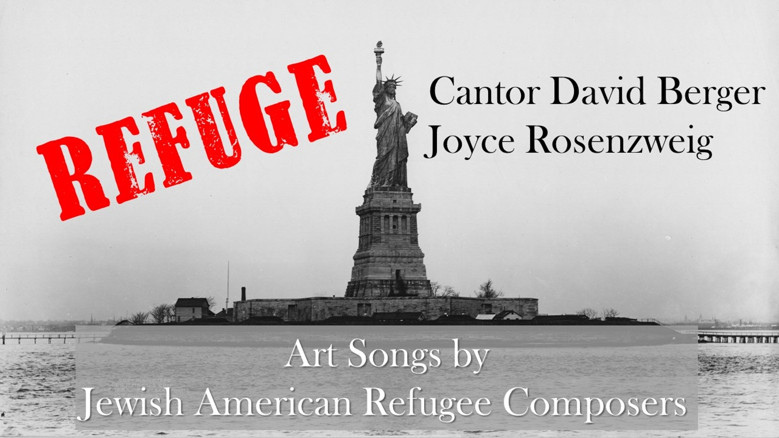 Refuge - a CD by David Berger and Joyce Rosenzweig, pianist