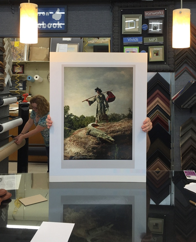 """An example of your card of choice, The Fool, as the largest, 17"""" x 23"""", fine art photograph, signed by the artist"""