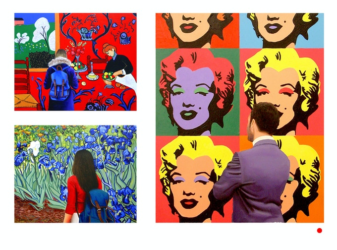 """3 Available museum paintings ,19 2/3"""" x 15 3/4"""" or 50 x 40 cm. Just pick your favorite and let me know. If it has a red dot it's called for already."""