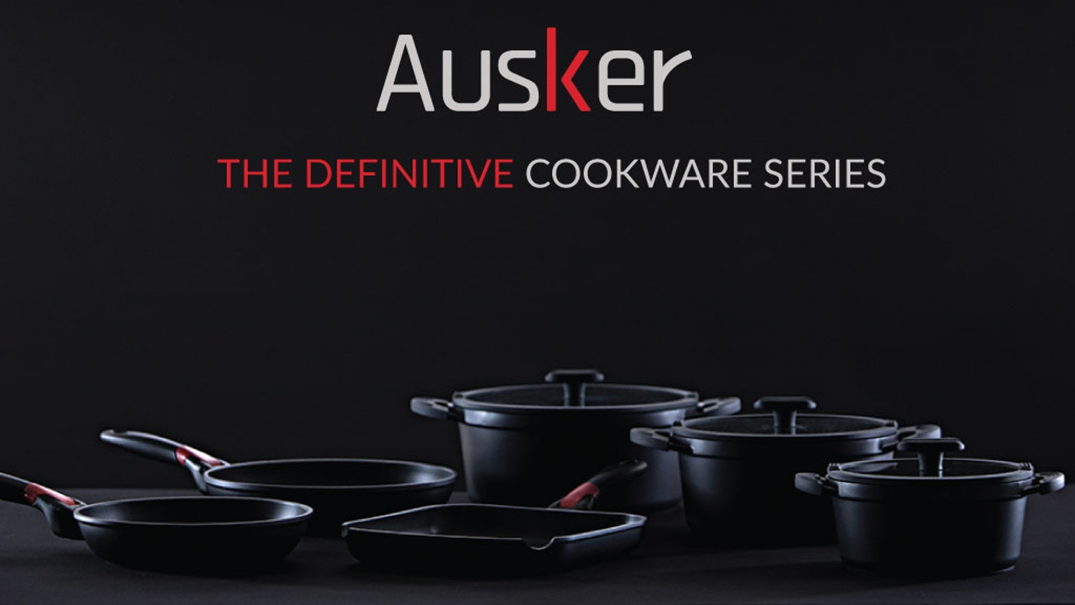 Once again Ausker revolutionizes the home cooking experience with the new series of high quality Pots, Frying Pans and Grills.