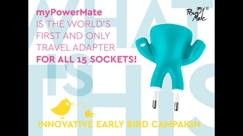 myPowerMate: the World's Only Travel Adapter for All Sockets