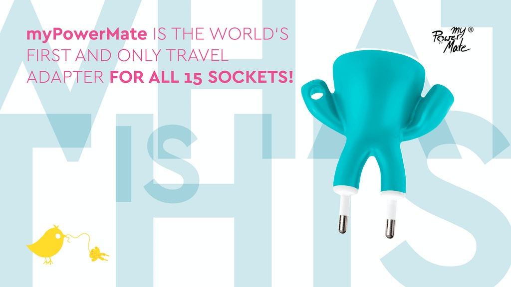 myPowerMate: the World's Only Travel Adapter for All Sockets project video thumbnail