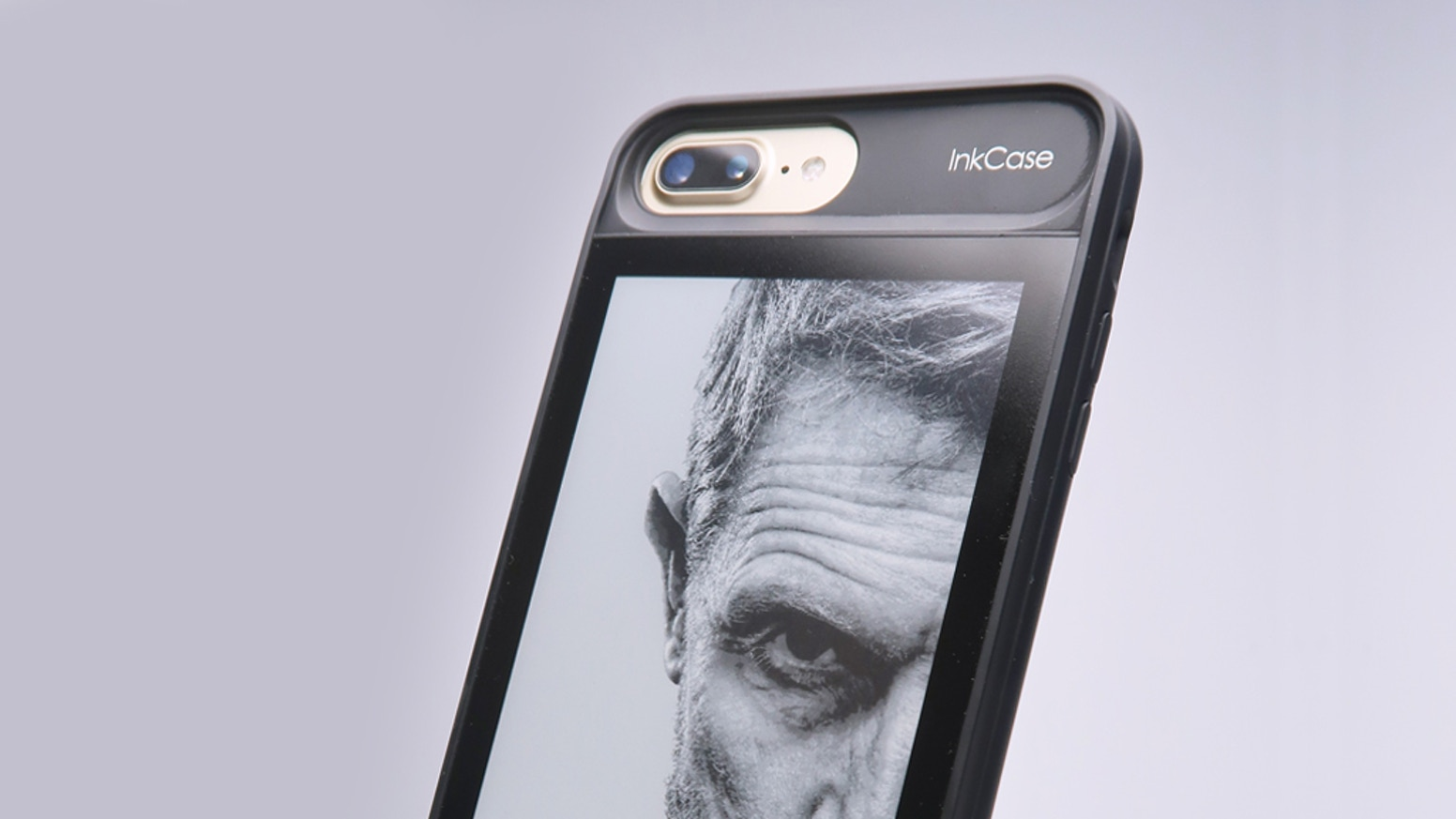 E Ink Smart Case Designed for Adventurers, Bookworms, Businessperson, Selfie-taker And Everyone Else. Fits iPhone 6/6s Plus as well!