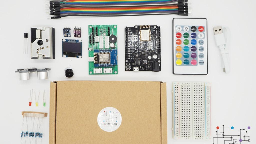 Iot development and sensors kit using esp with arduino