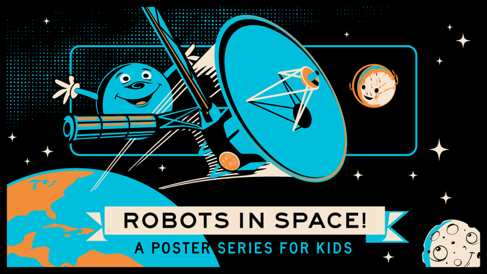 Glow-in-the-dark poster series that celebrates the cosmos and the incredible missions that expanded our knowledge of the universe!