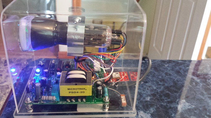 The 6Lo1i build with the GPS module & antenna in back.