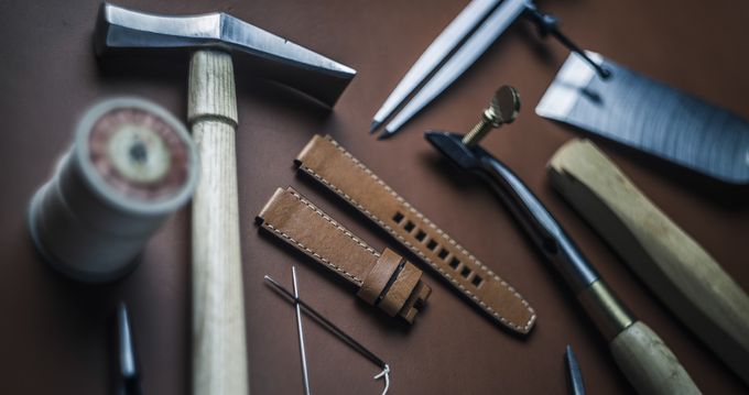 Manufacture of leather straps