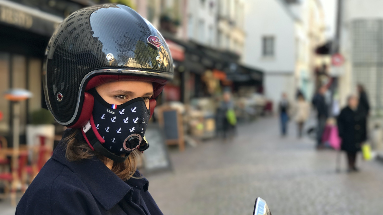 r pur 2 wheelers anti pollution mask made in france by. Black Bedroom Furniture Sets. Home Design Ideas