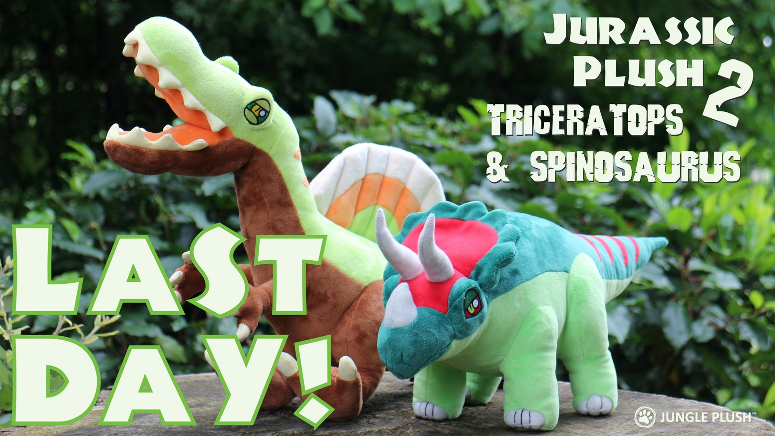 Aurora Monkey Stuffed Animal, Jurassic Plush 2 Triceratops Spinosaurus Soft Toys By Jungle Plush Kickstarter