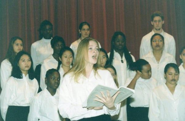 Back in high school choir days