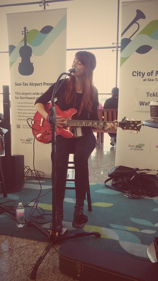 Performing at SeaTac Airport