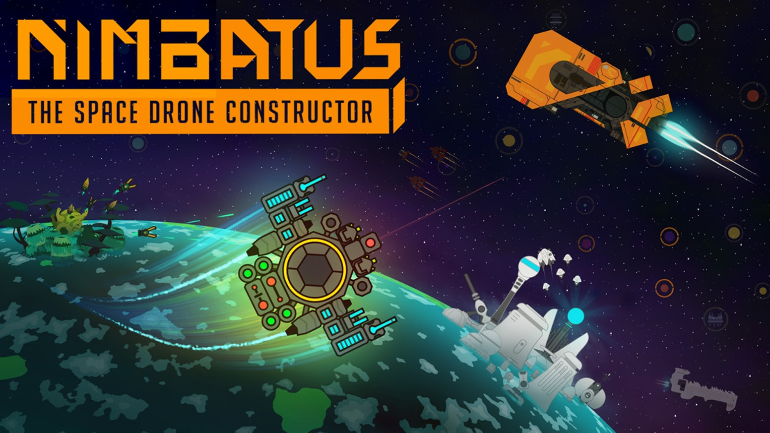 Nimbatus is a procedurally generated action simulation game. Build space drones out of countless parts and explore a huge galaxy.