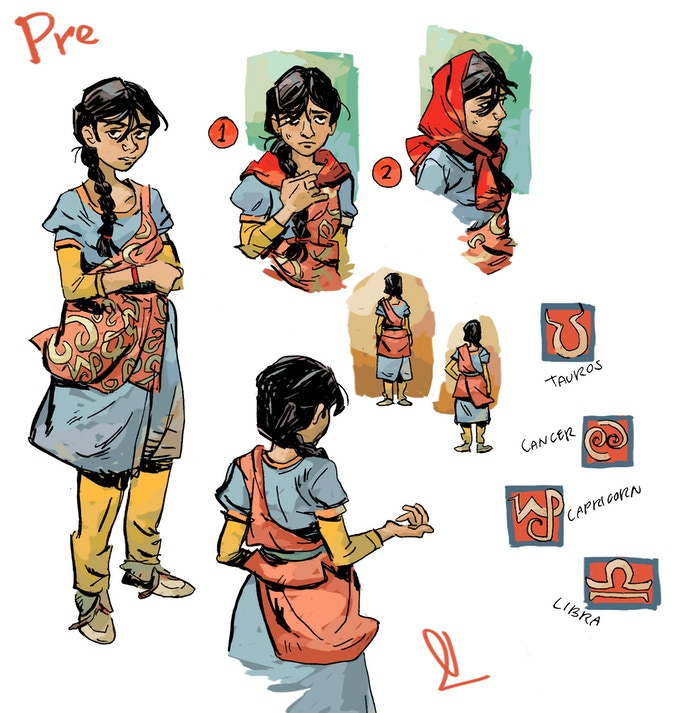 Pre, a young astrologist who keeps after her family farm.