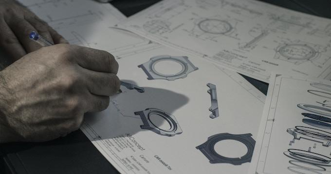 CAO and technicals drawing at La Chaux-de-Fonds, Switzerland