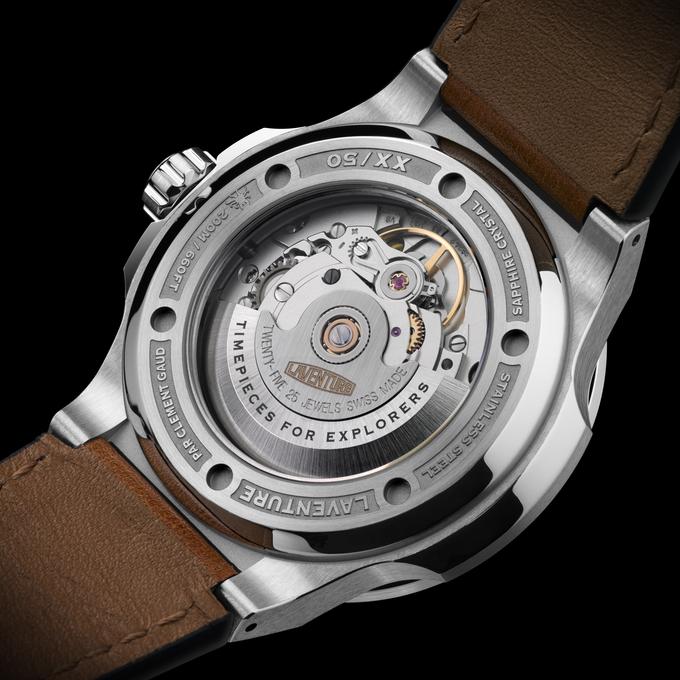 Swiss Automatic Movement ETA 2824-2 and Laser Engraved Caseback with Limited Edition number : XX/50