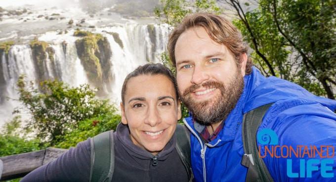 My wife and I at Iguassu Falls in Brazil
