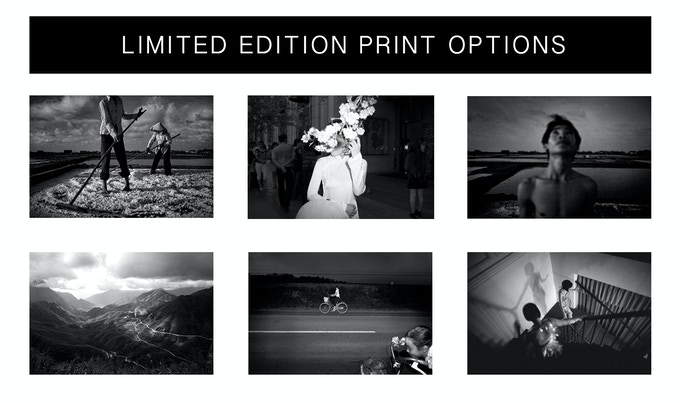Choose from these limited edition prints for your reward. They appear larger below.