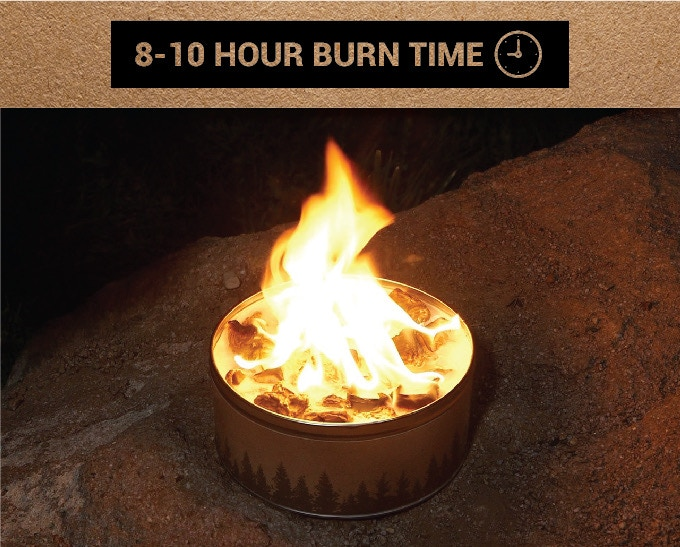 burn time of 8 - 10 hours
