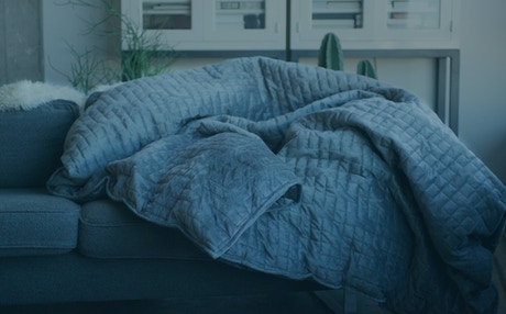A weighted blanket engineered to be 10% of your body weight to naturally  reduce stress 418c31046